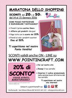 www.pointincraft.eu  #sconti #saldi #maratona #shopping #maratona2017 #codicesconto #creatività #pointincreare #creaconpointin #faidate #hobby #feltro  #panno #crea #pointincraft #handmade #homemade #casette #online