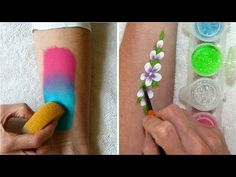 Learn how to use face paints, sponges & glitter / Face Painting Made Easy PART 2 - YouTube