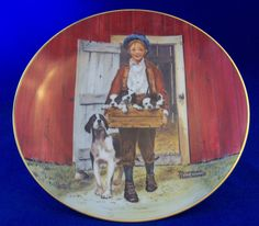 NORMAN ROCKWELL Collector Plate PUPPY LOVE 1981 Museum Certified NUMBERED Decor