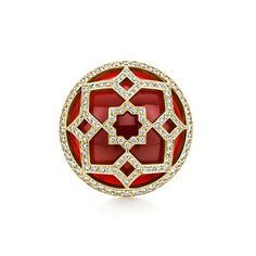 Tiffany and Co. Paloma Zellige Ring; Carnelian & Ruby