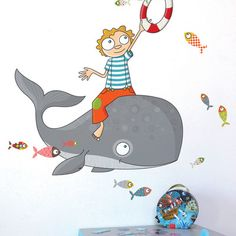 ADZif Ludo Flying Fish Wall Decal