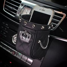 Phone Holder for Car with Bling Crown