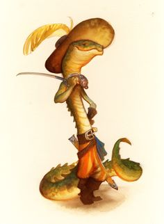 illustration, animal, snake, . by Justin Gerard