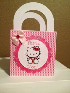 For my sister in laws baby shower Hello Kitty Baby Shower, Hello Kitty Birthday, Hello Kitty Favors, My Sister In Law, Cat Party, Favor Boxes, Treat Bags, 5th Birthday, Baby Shower Gifts