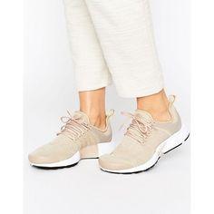 Nike Presto Sneakers in Beige (€110) ❤ liked on Polyvore featuring shoes, sneakers, beige shoes and beige sneakers