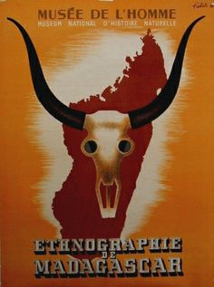 Musee de l'homme Ethnographie de Madagascar by Falck vintage poster