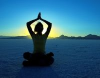 The combination of yoga and nature again - very potent.