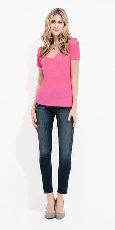 Shop the look - Pink tee
