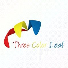 Three Color Leaf logo