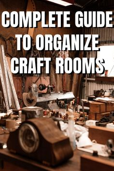 Declutter your craft room in just 3 steps! The ultimate guide for organizing your craft space and re-discovering all your forgotten craft supplies! Craft Room Organisation, Craft Room Storage, Paper Organization, Organizing, Small Craft Rooms, Craft Space, Space Crafts, Craft Storage Solutions, Storage Ideas