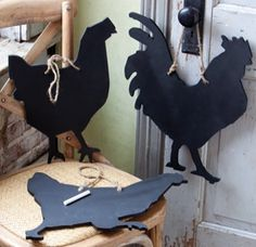 Rooster chalkboard available at White Goat! Not sure what White Goat is.. but another pinner added this info.