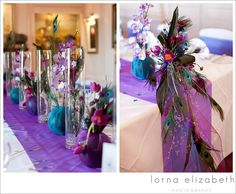 21 Port Lympne wedding photos peacock colours wedding theme flowers by Elli Cawse