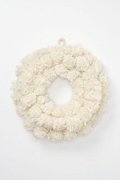 wool wreath :: love this for winter