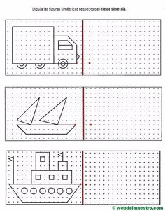 Preschool Worksheets, Preschool Learning, Preschool Activities, Teaching, Drawing Lessons, Art Lessons, Math Logic Games, Visual Perceptual Activities, Graph Paper Art