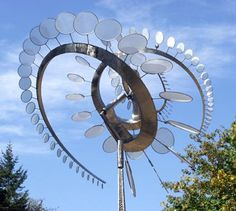 Metal Wind Sculpture | born 1954 salt lake city ut lives and works on orcas island wa