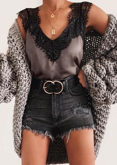Presale - Lace Splicing Tank without Necklace - Light Coffee Women's Best Online Shopping - Offering Huge Discounts on Dresses, Lingerie , Jumpsuits , Swimwear, Tops and More. Cute Casual Outfits, Short Outfits, New Outfits, Stylish Outfits, Spring Outfits, Fashion Outfits, Womens Fashion, Ladies Outfits, Casual Jeans