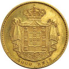 Portugal 5000 Reis gold coin