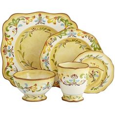 Shop for dinnerware, dinner sets and other place settings at Pier Put the finishing touch on your dining room with our dishes, bowls, dinner plates and more. Stoneware Dinnerware, Dinnerware Sets, China Dinnerware, Yellow Dinnerware, Dinner Sets, Dinner Ware, Dinner Parties, Tuscan Decorating, Decorating Ideas