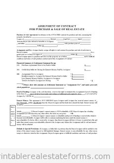 Free  ASSIGNMENT OF CONTRACT Printable Real Estate Forms