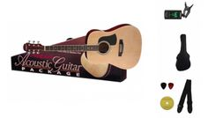 Aria AGPN 003 Acoustic Guitar Package.