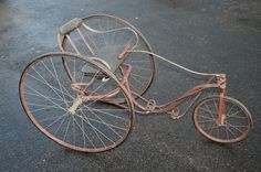 Stunning Antique Child's Fairy Tricycle Velocipede Bike. The Worthington Company