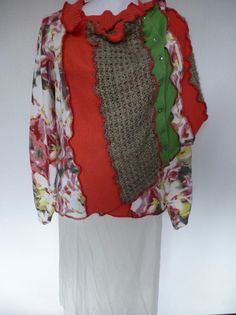 """Kurzjacken - Jackenschal """"Spring"""" - ein Designerstück von AutumnFlowers bei DaWanda"""