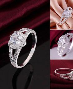 Heyrock Womens Magic Rainbow Stainless Steel Wedding Rings