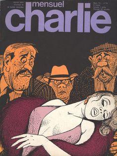 Charlie Mensuel 74 - mars 1975 - illustration Pichard