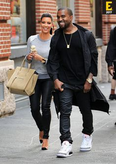 Blast from the Past. Kim Kardashian West and Kanye West spotted with ice-cream in hand while in NYC
