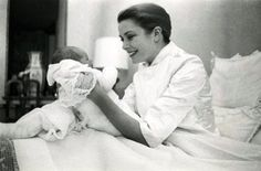 Princess Grace with Princess Caroline