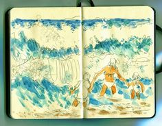 Urban Sketchers: Hit the surf!