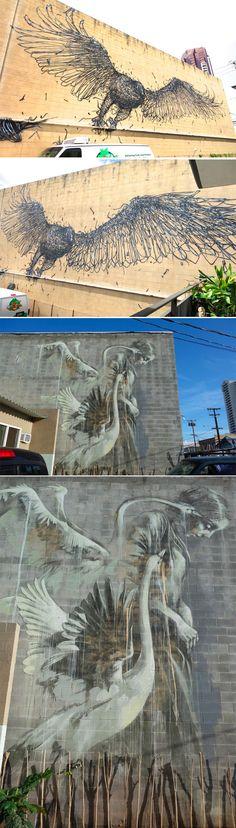 d/écoration de Peinture Murale dartiste de Graffiti Life is Beautiful Mur Deco Poster Mural Image by Style de Rue Pop Style dartiste de Rue Stencil 140 x 100 cm GREAT ART Affiche Banksy