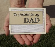 DAD Thank You Card  So Grateful for My Dad  by MDCardsandGifts, $3.75