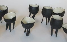 // leggy porcelain cups from my new post for The Etsy Blog: http://www.etsy.com/blog/en/2012/storyboard-pilgrimage/