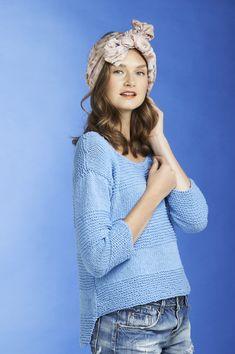 Naisen neulepusero Novita Eco Cotton