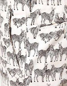 Zebra Chino Shorts by Mark McNairy.