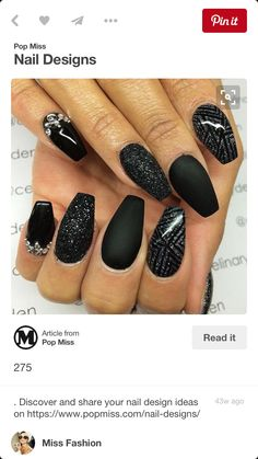 Matte black and sparkles