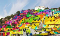 germen crew palmitas mexico rainbow painted mural