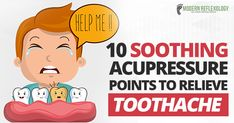 Toothache can make your life difficult. Here are 10 acupressure points that work as effective fast pain reliever for toothache, be it chronic or temporary. Tooth Pain Relief, Home Remedy Teeth Whitening, Remedies For Tooth Ache, Accupuncture, Acupressure Points, Reflexology, Health Facts, Massage Therapy, Natural Healing