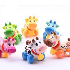 Baby cartoon cow design Running Clockwork toy