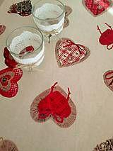 Úžitkový textil - vianočný obrus režného vzhľadu - 6074648_