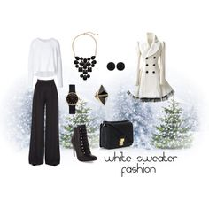 """""""White Sweater Fashion Contest"""" by janet-palaggi on Polyvore"""