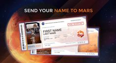 Send Your Name to Mars on a future NASA mission. View and share your boarding pass. See your frequent flyer points. Science And Technology News, Neat Handwriting, Curiosity Rover, Nasa Missions, My Past Life, Mission To Mars, Nova, Reaching For The Stars, Lost In Space