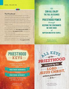 Handouts from The New Era for June Come Follow Me lessons on The Priesthood and Priesthood Keys