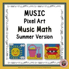 Review Music Note and Rest values with fun and engaging Music Math Mystery Pixel Art activities. Students enter their answers to each music math equation in the answer column. If the answer is correct, colored pixels appear, and the digital mystery picture begins to appear. Red text color will indicate incorrect answers, and no colored pixels will appear. ♫ ♫ #mtr #musicteacher #musiced #musiceducation Music Teacher Resources