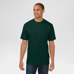 Dickies Cotton Heavyweight Short Sleeve Pocket Tee- Hunter Lincoln Green X-Large, Size: XL, Hunter Green