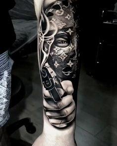 Girl Face Tattoo, Girl Arm Tattoos, Leg Tattoo Men, Dope Tattoos, Skull Tattoos, Body Art Tattoos, Tattoos For Guys, Safety Pin Tattoo, Louis Vuitton Tattoo