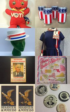 Political Memorabilia - Vote for Vintage ! by suzy fortenberry on Etsy--Pinned+with+TreasuryPin.com