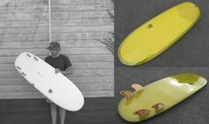 """Rake Surfboards """"Magic Peanut"""".. I like the element of the mini simmons but the rounded nose, tail and quad fin setup make this practically irresistible..."""