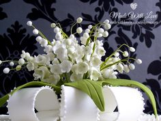 Lily of the Valley Box Cake Detail